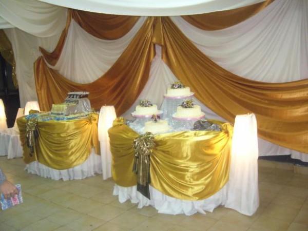 Decoraci n con telas para salones de fiestas www - Telas para cortinas de salon ...
