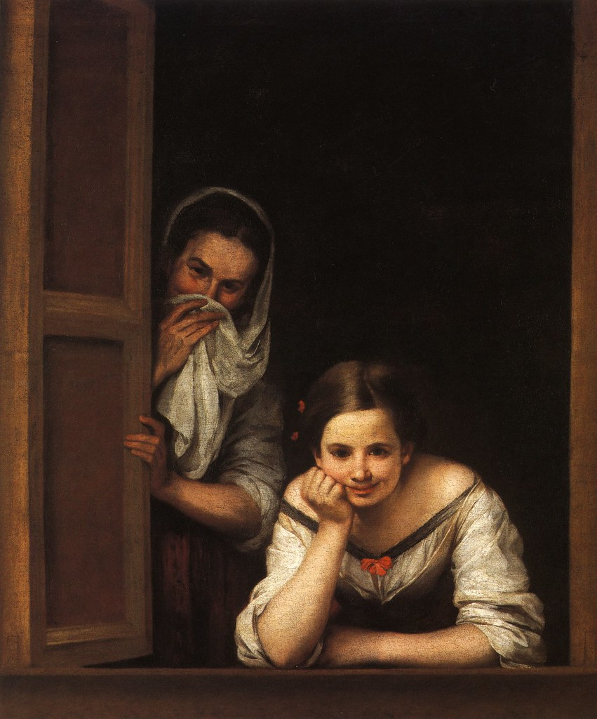 Resultat d'imatges de two women at a window bartolome esteban murillo