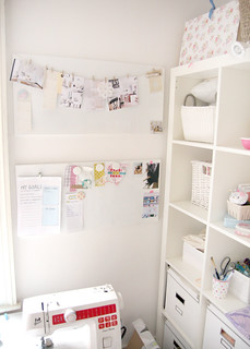 Spontan Magnetic Boards above the sewing table | by HeartHandmadeUK