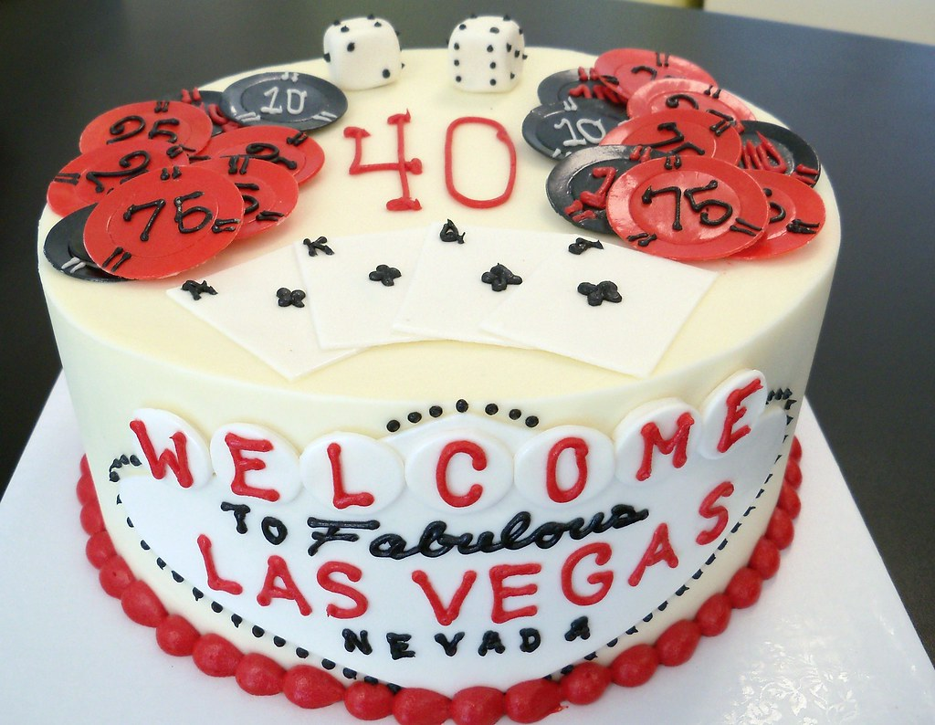 Las Vegas 40th Birthday Cake Custom Cake Orders Require 14 Flickr