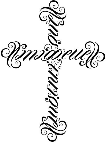 michelle luis enrique ambigram cross a custom ambigr flickr. Black Bedroom Furniture Sets. Home Design Ideas
