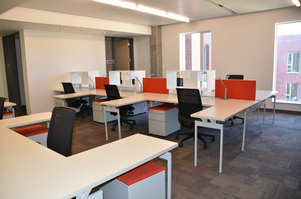 Office space an open office layout allows for for Design an office space layout online