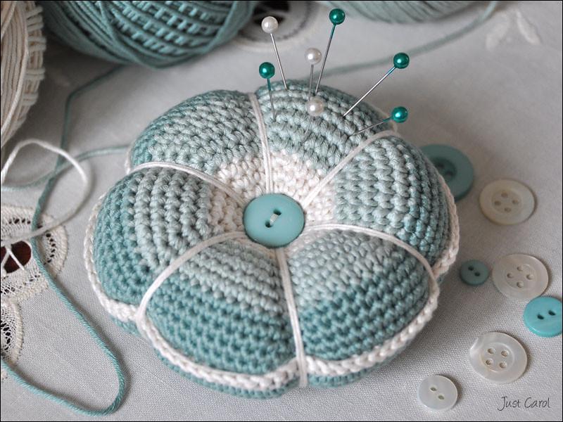 Crochet Pincushion Free Pattern By Liselotte English Trans