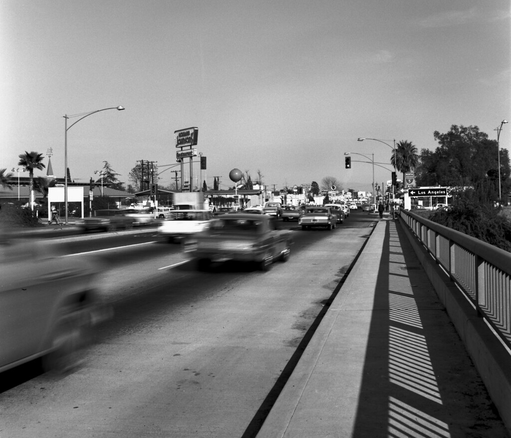 lincoln ave at i5 freeway anaheim circa 1967 there