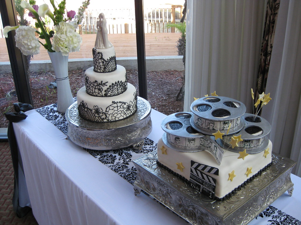 hollywood themed wedding cakes theme wedding cake www northshoretx 15272
