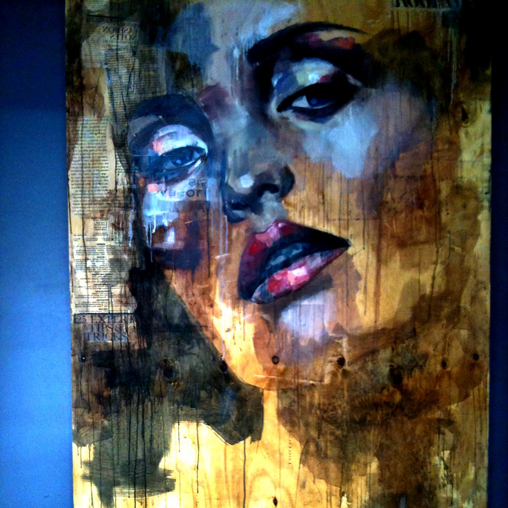 Painting on wood fantastically powerful painting done for A mural is painted on a