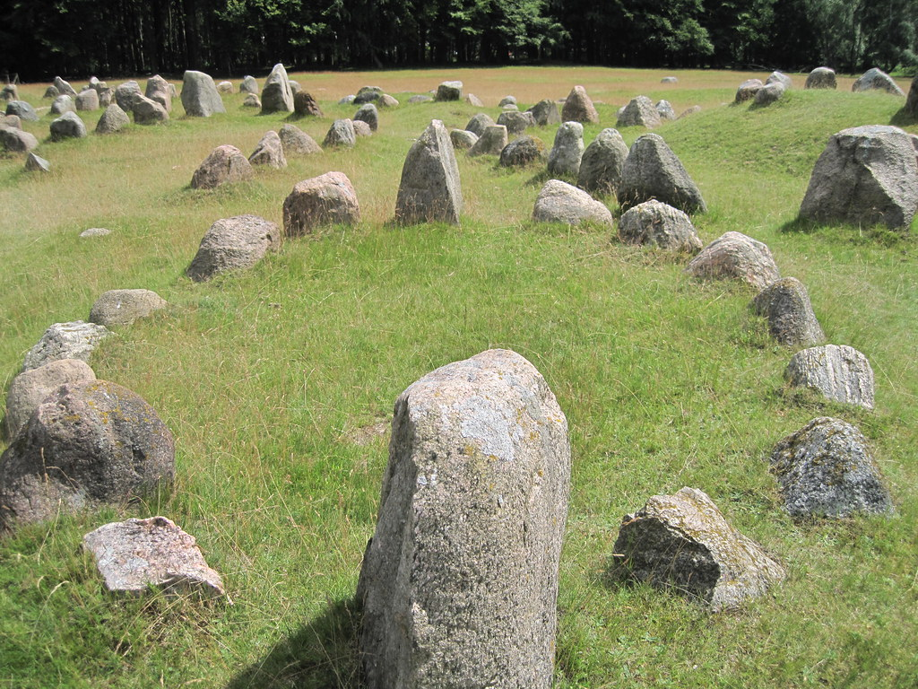 Image of Viking graveyards as a practice of Viking funeral