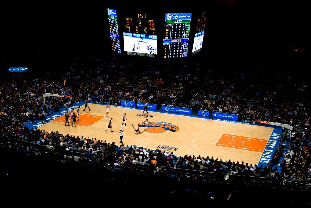 New York Knicks In The Madison Square Garden Jean Baptiste Bellet Flickr