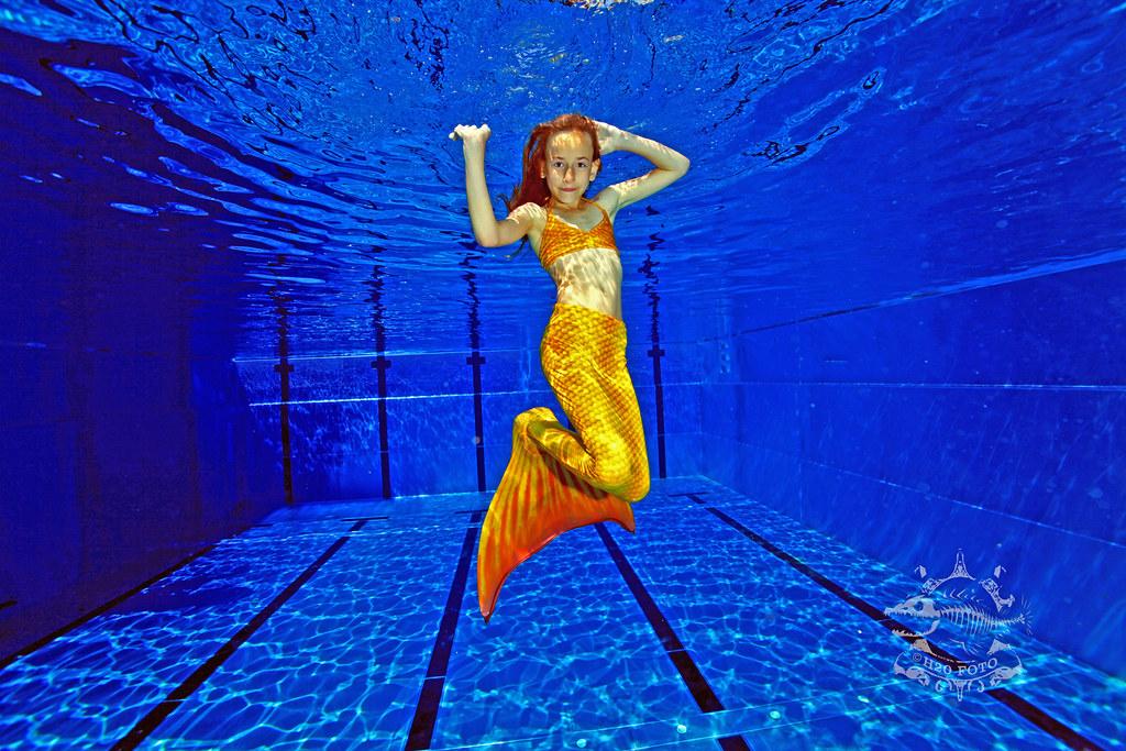 Mermaid Unterwasser Fotoshooting