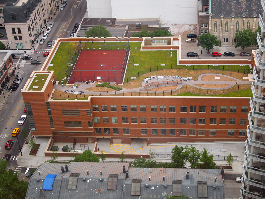 Ogden Elementary School Newly Completed Green Roof Flickr