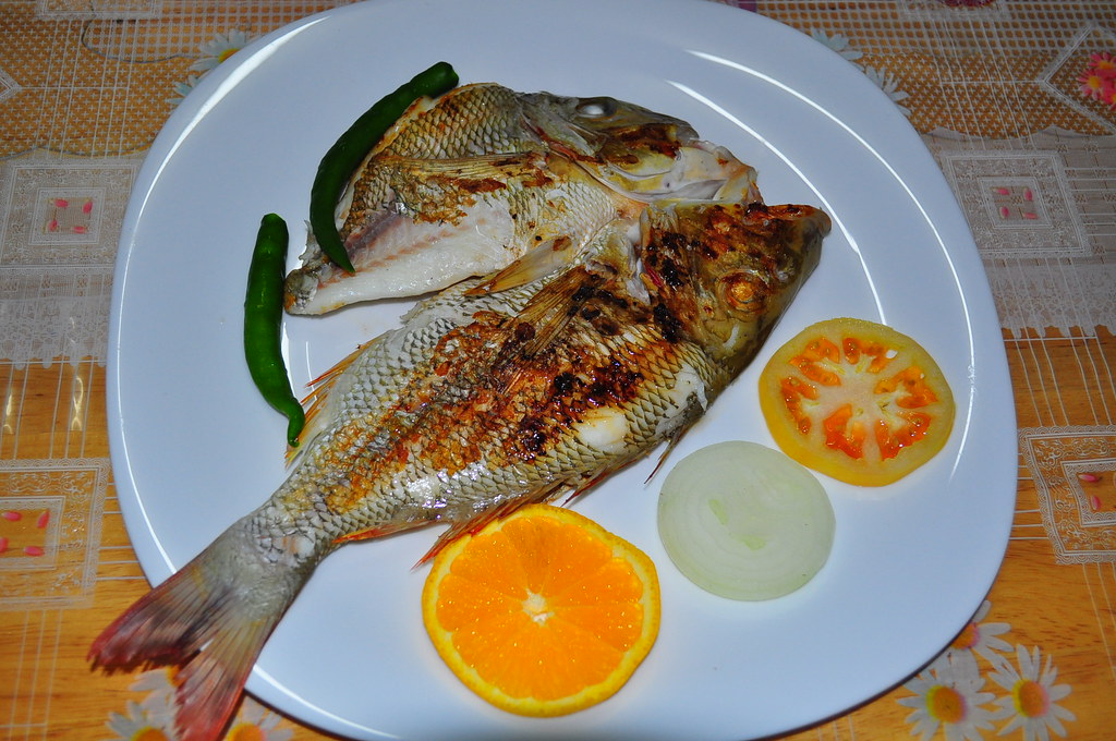 My grilled fish it started from a fresh buy at for Pan grilled fish