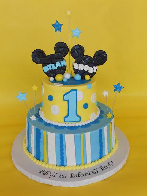 Baby Mickey 1st Birthday Cake  Flickr - Photo Sharing!
