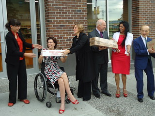 Minister Cadieux helps open the new Quest Food Exchange store | by BC Gov Photos