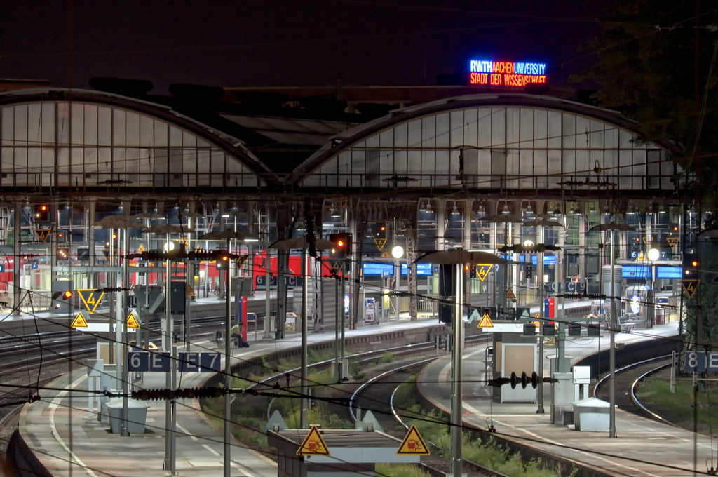 Central Station Aachen Hauptbahnhof Aachen CanadaCarlo Flickr