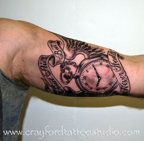 Time flies tattoo for Is a d ointment good for new tattoos
