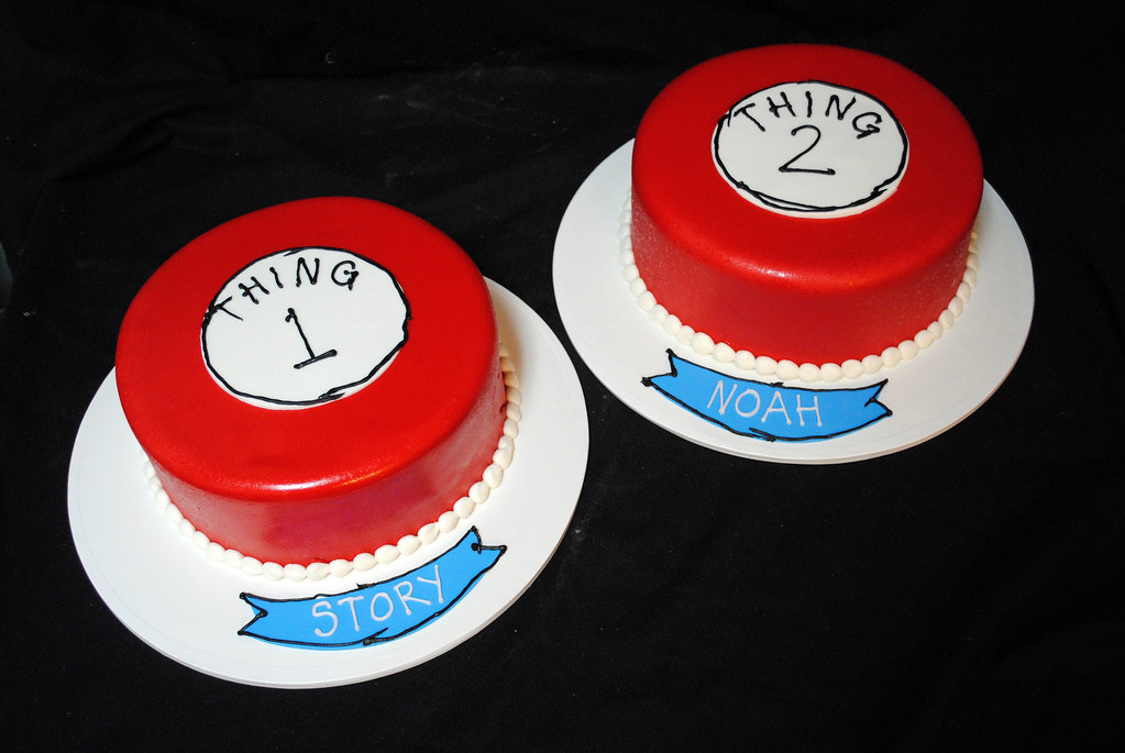 Thing 1 And Thing 2 Birthday Cakes Ben Pleiss Flickr