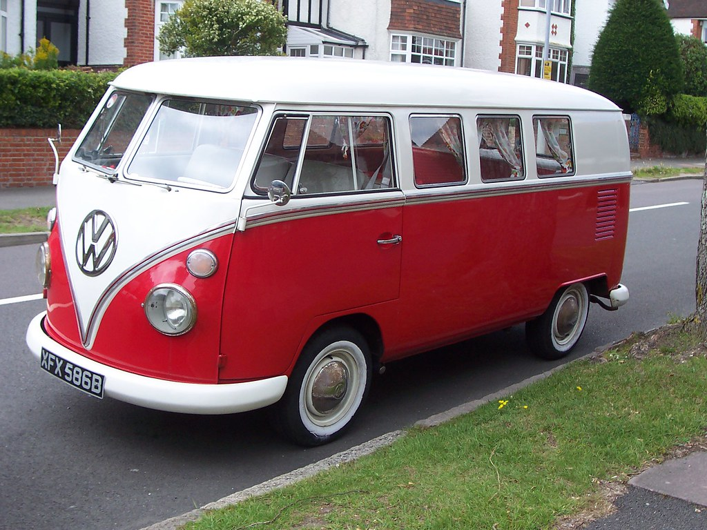 Vw Camper Van Red Amp White I Nearly Crashed When I Saw