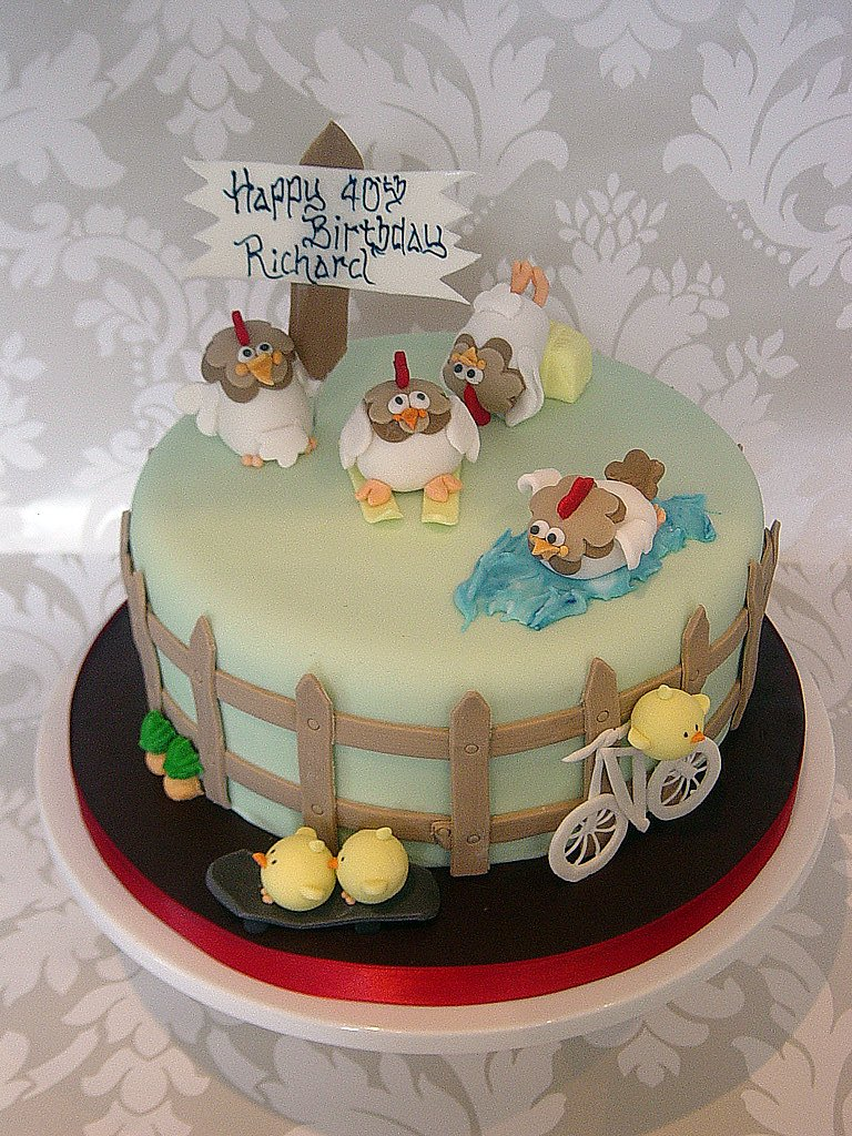 Chicken Birthday Cake A Multi Themed Chicken Birthday Cake Flickr