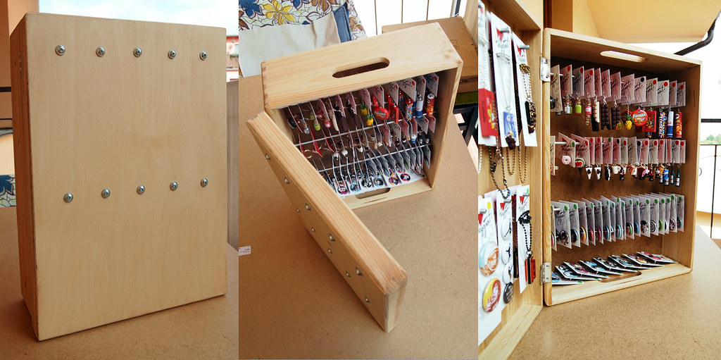 Earring Display Made From The Wooden Box Remodeled From Th Flickr