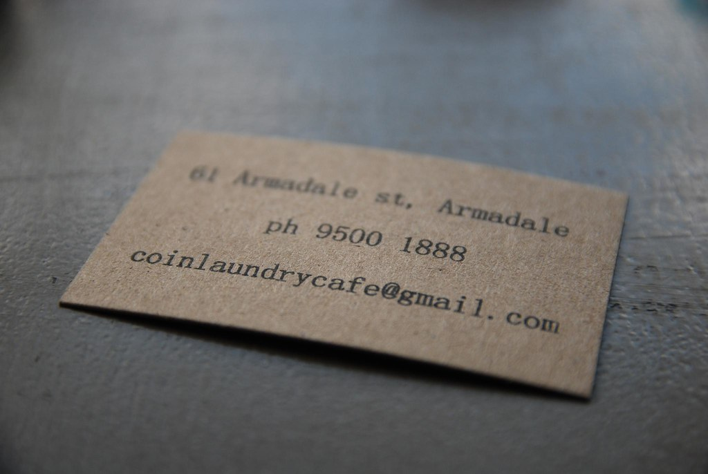 Business card details - Coin Laundry, Armadale | Coin Laundr… | Flickr