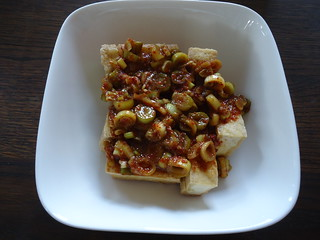 Pan fried tofu with spicy sauce | by Dutchguycooking