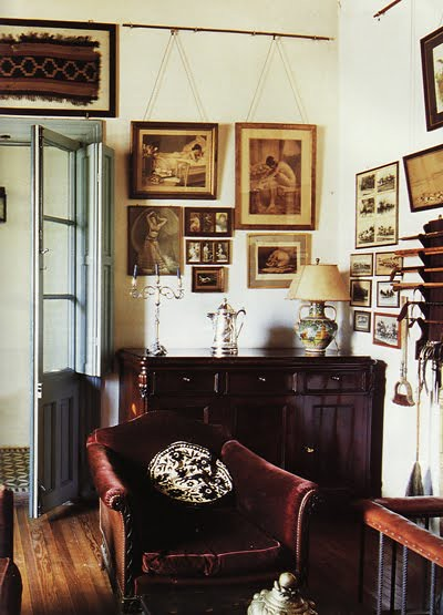 Ricardo labougle world of interiors eclectic vintage tr for Traditional eclectic living rooms