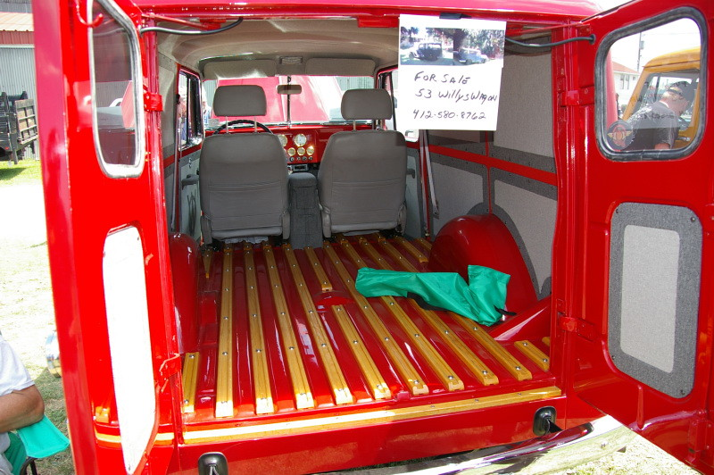 Willys Overland Panel Delivery Wagon Interior Rear Floor W