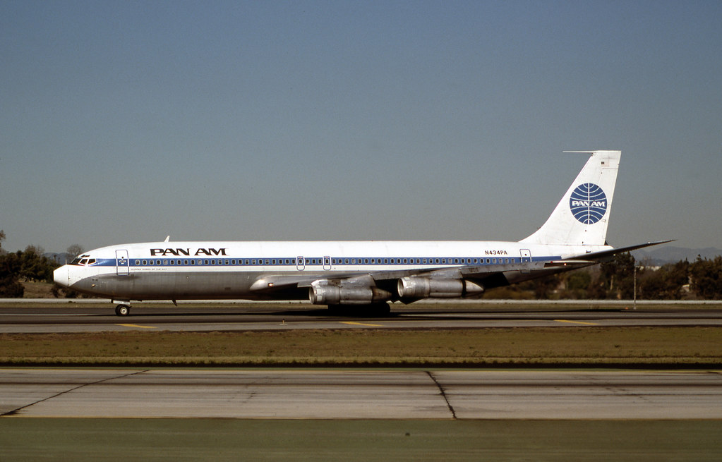 Pan Am Boeing 707-320B | Boeing 707-320C Pan Am LAX March, 1 ...