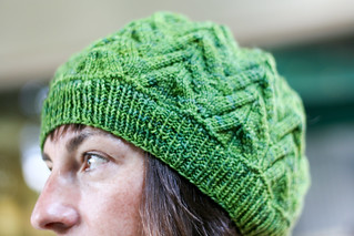 "Cecily Beret in DiC Smooshy ""Happy Forest"" 