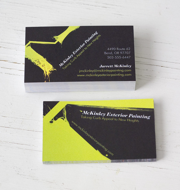 Vistaprint Business Cards Two Stacks