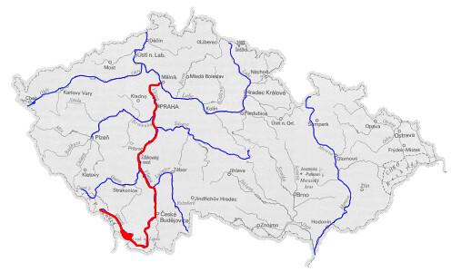Moldau River Map