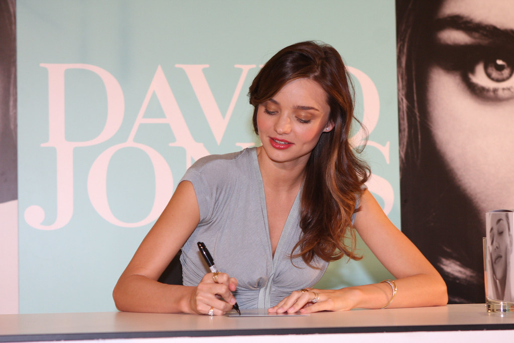 David Jones Fashion Ambassador Miranda Kerr in store book signing, Kora Organics