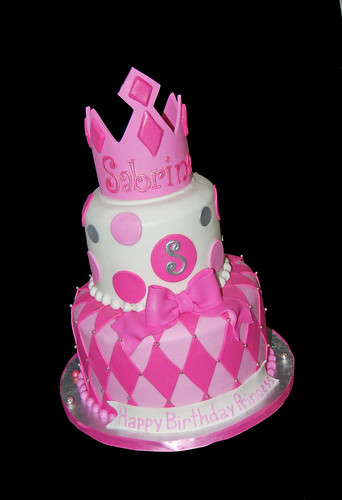 Pink White And Silver 2 Tier Tiara Cake Dana Brown Flickr
