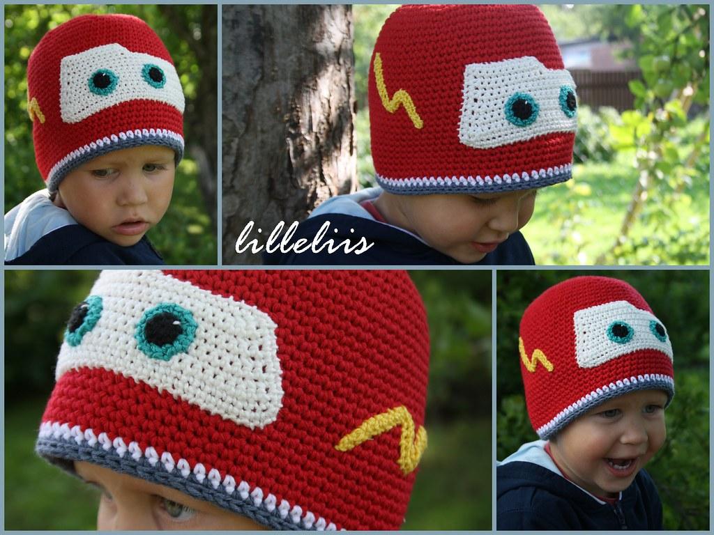 Lightning mcqueen crochet hat free pattern available here flickr lightning mcqueen crochet hat by lilleliis bankloansurffo Choice Image
