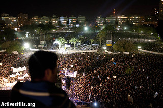 Live photos of the protesters at the 'March of the Million' rally in Tel Aviv in Kikar Hamedina square, Sept. 3, 2011. | by Activestills