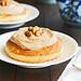 tartitas de mascarpone y pesto de nueces caramelizadas