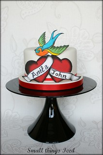 Love Tattoo Anniversary Cake | by SmallThingsIced