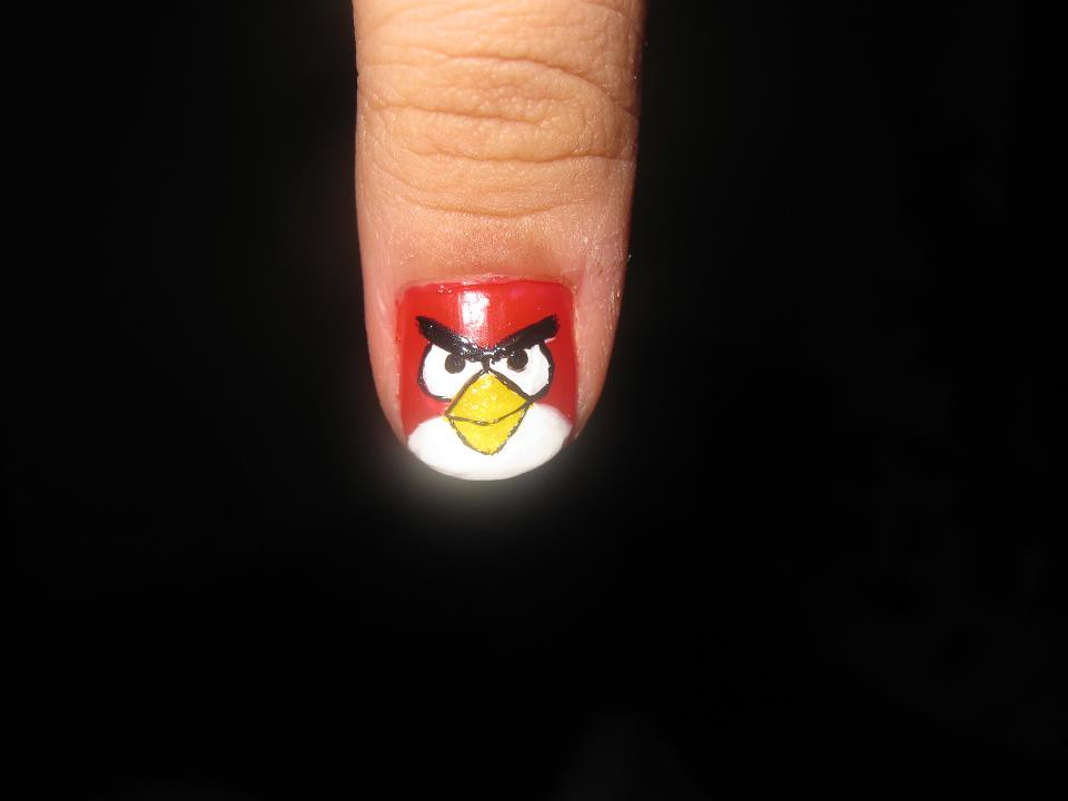 nail art design angry birds | as requested here is one of th… | Flickr