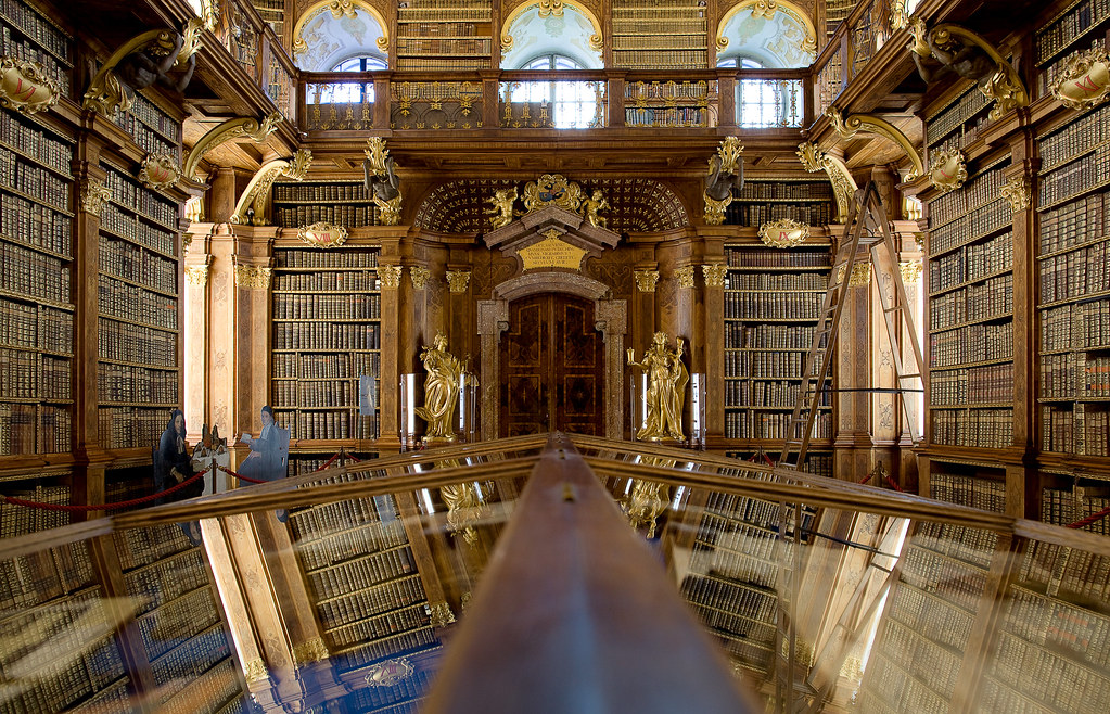Library  Melk Abbey, Austria An Unbelievable Place-2269
