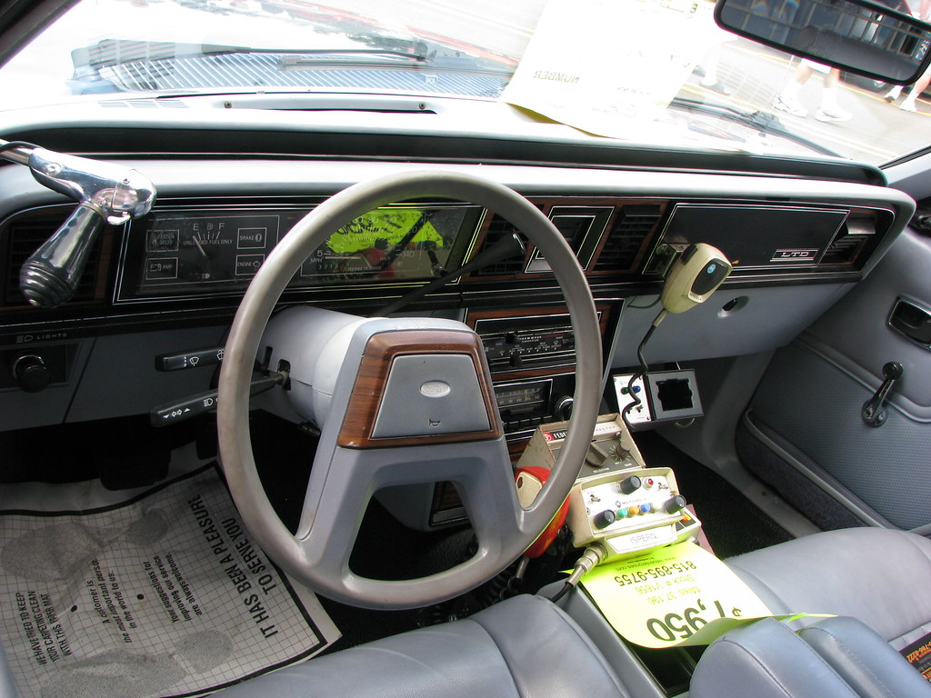 1984 ford ltd police car interior the original equipment w flickr. Black Bedroom Furniture Sets. Home Design Ideas