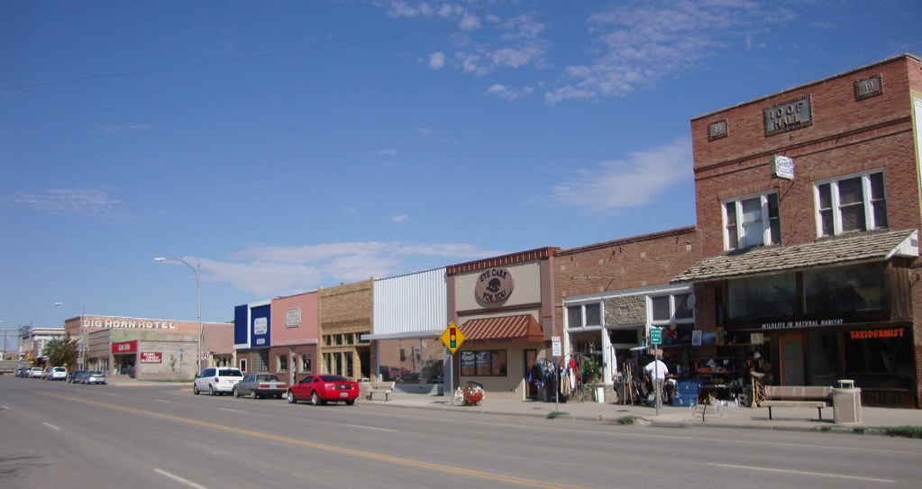 Downtown Greybull Wyoming Greybull Is Located To The