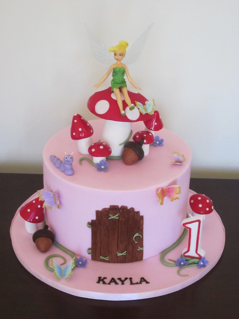 how to make a tinkerbell cake