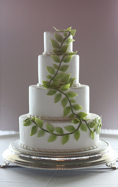 wedding cake with green leaves green leaves wedding cake flickr photo 26903