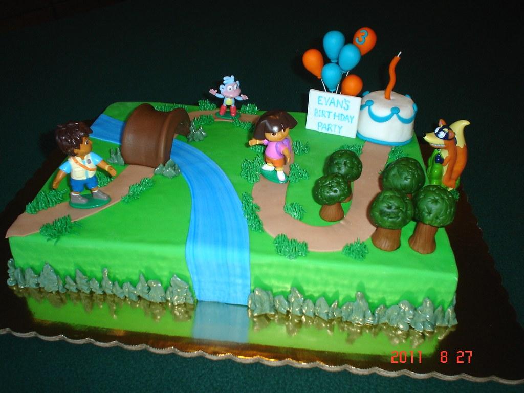 Dora Cake Recipe In English: Dora Cake For A Sweet Little Boy. So I