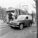 Repairing a tram in Stockholm 1954