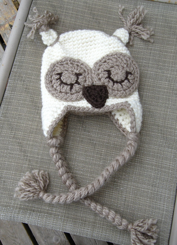owl baby hat made with loops and threads charisma yarn su flickr