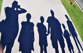 Family silhouette shadows 1 | by GoodNCrazy
