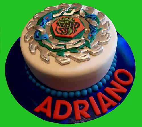 Beyblade cake poison serpent beyblade cake julie flickr for Anime beyblade cake topper decoration set
