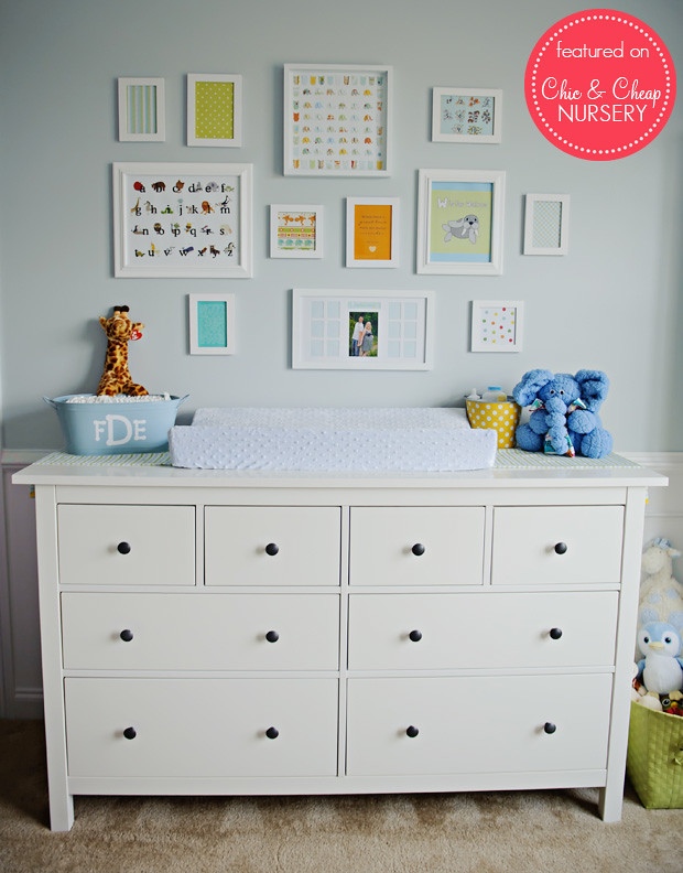changing table and wall art in blue and white classic boy flickr