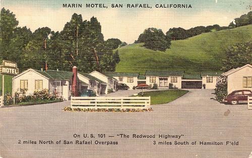 vintage marin hotel san rafael ca postcard feel free to. Black Bedroom Furniture Sets. Home Design Ideas